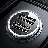 DIVI Zigarettenanzünder USB Ladegerät, Metall Mini Auto Ladegerät [Monitor Spannung] KFZ...