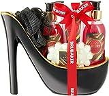BRUBAKER Cosmetics Luxus Erdbeere und Kokosmilch Beautyset - 6-teiliges Bade- und Dusch Set -...