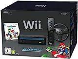 Nintendo Wii 'Mario Kart Pack' - Konsole inkl. Mario Kart, Wii Wheel, Remote Plus Controller,...