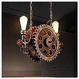 Pendelleuchten Gweat Retro industrieller Art großer Zahnrad Leuchter für Restaurant, Stab, Café,...