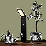 Moderne 9W LED Außensockelleuchte, Wegeleuchte mit Bewegungsmelder, IP 44, 600 Lumen, 3000K...