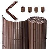 SONGMICS PVC Sichtschutzmatte, 4 x 0,9 m (L x B), Balkonverkleidung, Sichtschutzzaun,...