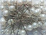 Perlen-Nadeln Deko-Nadeln Perle CHAMPAGNER (CREME)10mm 50 Stück ACHTUNG! KEINE STECKNADELN