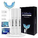 Bleaching Zähne, VIBITRIT Zahnbleaching Set mit Wasserdichte LED-Licht Mund Tablett, 3 Stück Zahn...