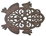 Dekorativer Trittstein Ausschnitt Frosch Gusseisen Gehwegplatte Hof & Garten Rost Braun