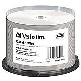 Verbatim CD-R - 700 MB, 52-fache Brenngeschwindigkeit und groß bedruckbar, DataLifePlus, 50er Pack...