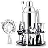 Amzdeal Cocktailshaker Set, 12 Teiliges Barkeeper Set aus Edelstahl, 750ml Cocktail Mixing Set,...