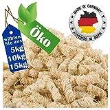 REDPRICE Kamin-Anzünder Grill-Anzünder Anzündwolle (5KG) 100% ÖKO Holz-Wolle mit Natur-Wachs...