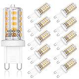 AGOTD 4W G9 LED Lampe, 2700k warmweiß Kein Flackern LED Leuchtmittel, 400 Lumen, Nicht Dimmbar 360...