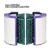 GCDN Ersatz-Hepa-Filter für Dyson TP04 HP04 DP04 TP05 HP05 Luftreiniger versiegelt, zweistufiges...