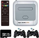 Retro Arcade Spielekonsole WiFi Super Console X Pro 128GB mit 41000 Spiele + 2 Bluetooth Gamepads,...
