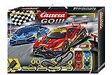 Carrera GO!!! Race the Track Rennstrecken-Set   6,2m elektrische Rennbahn mit Lamborghini Huracán...