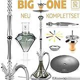M. ROSENFELD Premium Shisha Big ONE  Komplettset 111 cm Hookah mit 4 Anschlssen inkl. Adapter,...