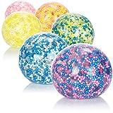 com-four® 6X Anti-Stressball - Squeeze-Ball zum Stressabbau und Spielen - Quetschball mit bunten...