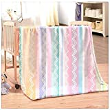 Uhkurw Flannel Blanket for Kids and Adult Super Soft Warm Fleece Blankets White Wavy Curved Texture...