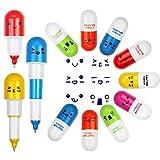 EMAGEREN 24 Stck Cute Kugelschreiber fr Kinder ser Stift Kreative Novelty Mini Retractable Pill...