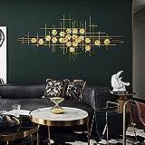 WXDDX Wanddeko Metall, 3D Wandschmuck Wanddeko Wandverzierung Dekoration Vintage Gitter Wandskulptur...