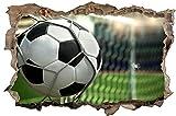 Fussball Tor Ball Stadion Wandtattoo Wandsticker Wandaufkleber D0412 Größe 100 cm x 150 cm