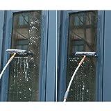 DGYAXIN Fensterreiniger Set, Gebogenes Stabdesign Erweiterbar Scheibenreinigungsrakel Gummiklinge...