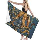 fdghjdfghjfhjd Strandtücher,Yogahandtücher Beach Towels for Women Men Watercolor Ocean Octopus...