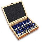 S&R Fräser-Set 12-tlg für hartes und weiches Holz, Schaft 8mm, Holzkoffer, geschmiedeter...