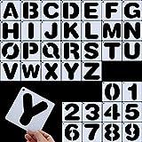 Yaomiao Briefschablonen, Alphabetvorlagen, Alphabet Schablonen Wiederverwendbare Kunststoff Kunst...