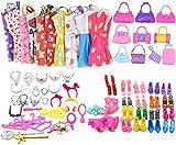 Miotlsy Kleidung Accessories für Barbie Puppen 20 Set Kleid Dress 30 Stück Schmuckzubehör...