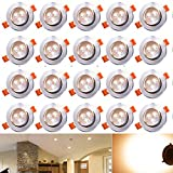 Hengda 20 x 3W LED Einbauleuchte Wohnzimmer Decken Leuchte Lampe Spot Strahler Set 2800-3200k...