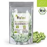 BioFeel - Bio Gerstengras Kapseln, 180Stk., 450mg - aus NEUSEELAND - rein - vegan - ohne Zusätze