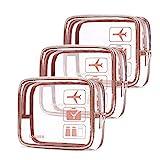 Insgesamt 3 Teile/Satz Von Transparenten Reißverschluss Kosmetiktasche Reise PVC Transparent...