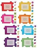 Unbekannt XXL Wandtattoo / Sticker - Fotorahmen als Puzzle Herzen Blumen für Bilder - Wandsticker...