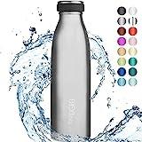 """720°DGREE Edelstahl Trinkflasche """"milkyBottle"""" - 500ml - Perfekt für Kinder, BPA-Frei,..."""