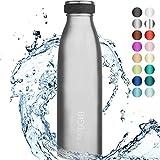 720DGREE Edelstahl Trinkflasche milkyBottle - 500ml - Perfekt fr Kinder, BPA-Frei, Auslaufsicher,...