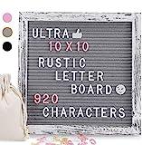 Brief Board, Filz Brief Board mit 920 PCS austauschbare Buchstaben & schöne Emojis, 10 x 10 Zoll...