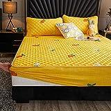 FJMLAY Spannbettlaken hochwertige Verarbeitung, mit Gummizug,Gebürstetes Bettlaken aus gebürstetem...