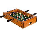 "Maxstore Mini-Tisch-Kicker Tischfussball ""Dundee"", helles Holzdekor, Maße: 51x31x8 cm, Gewicht:..."
