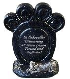 Fachhandel Plus Grabdeko Gedenkstein Pfotenabdruck mit Spruch In liebevoller Erinnerung an einen...