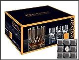 H-BO Whisky Glas Aspen von Nachtmann 4 Stück + 8 Kühlsteine Speckstein im Stoffbeutel