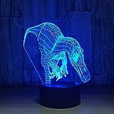 3D USB Dinosaurier Modellierung Tischlampe LED Nachtlichter 7 Farben Ändern Schlafzimmer Wohnkultur...