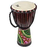 AKLOT Djembe Trommel 50cm Djemben Buschtrommel Afrika-Style geschnitzt Handarbeit Drum Bongo Kongo...