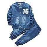 Shiningup Baby Boy Denim Kleidung Set Langarm-Mantel und Lange Jean Hosen Kleidung für 0-4 Jahre...