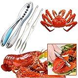 ALUYF Meeresfrüchte Werkzeug Set Seafood Cracker Tool Nussknacker Werkzeug für Hummer Krabbe Nuss...