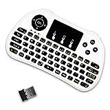 Fesjoy P9 2.4G RF Wireless Keyboard Flash Blacklit Keyboard mit Touchpad Maus Combo Multimedia Keys...