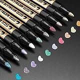 ANYUKE Metallic Marker Pens, 10 Farben Metallic Stifte fr Gstebuch Hochzeit/Geburtstag, Fotoalbum...