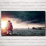 N / A Rahmenlose Malerei Interstellare Raumfilmstills Filmkunst Ölgemälde Poster Wanddekoration...