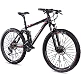 CHRISSON 29 Zoll Mountainbike Fully - Hitter FSF schwarz rot - Vollfederung Mountain Bike mit 30...