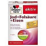 Doppelherz Jod + Folsäure + Eisen – Mit Jod zur Unterstützung der normalen Schilddrüsenfunktion...