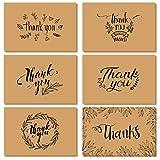 Dankeskarten, Ohuhu 36 Pack Braune Papier Dankeskarten Grukarten W/ 36 Karton Umschlge fr Gre,...