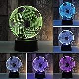 Nachtlicht 3D-Schlaflampe 3D-Fußballdruck Nachtlicht wiederaufladbar...