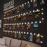 LED Fotoclips Lichterkette für Zimmer Deko, Litogo 10M 100LED Lichterkette mit 60 Klammern für...